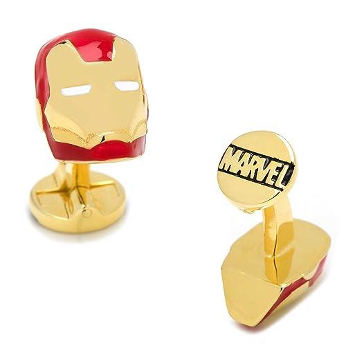 MARVEL Avengers Iron Man Casco Súper Héroe Gemelos + Caja de Regalo: Amazon.es: Joyería