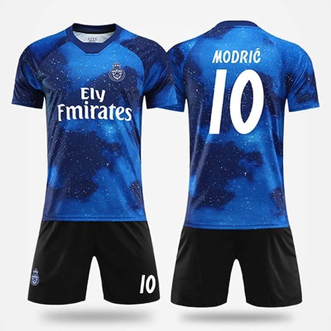 KLEDDP Camiseta de los Hombres de fútbol Ropa Traje Real Madrid ...
