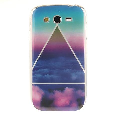 Guran® Silicona Funda Carcasa para Samsung Galaxy Grand Neo Plus / Grand Neo Smartphone Case Bumper Shock TPU Cover-Nube de triángulo