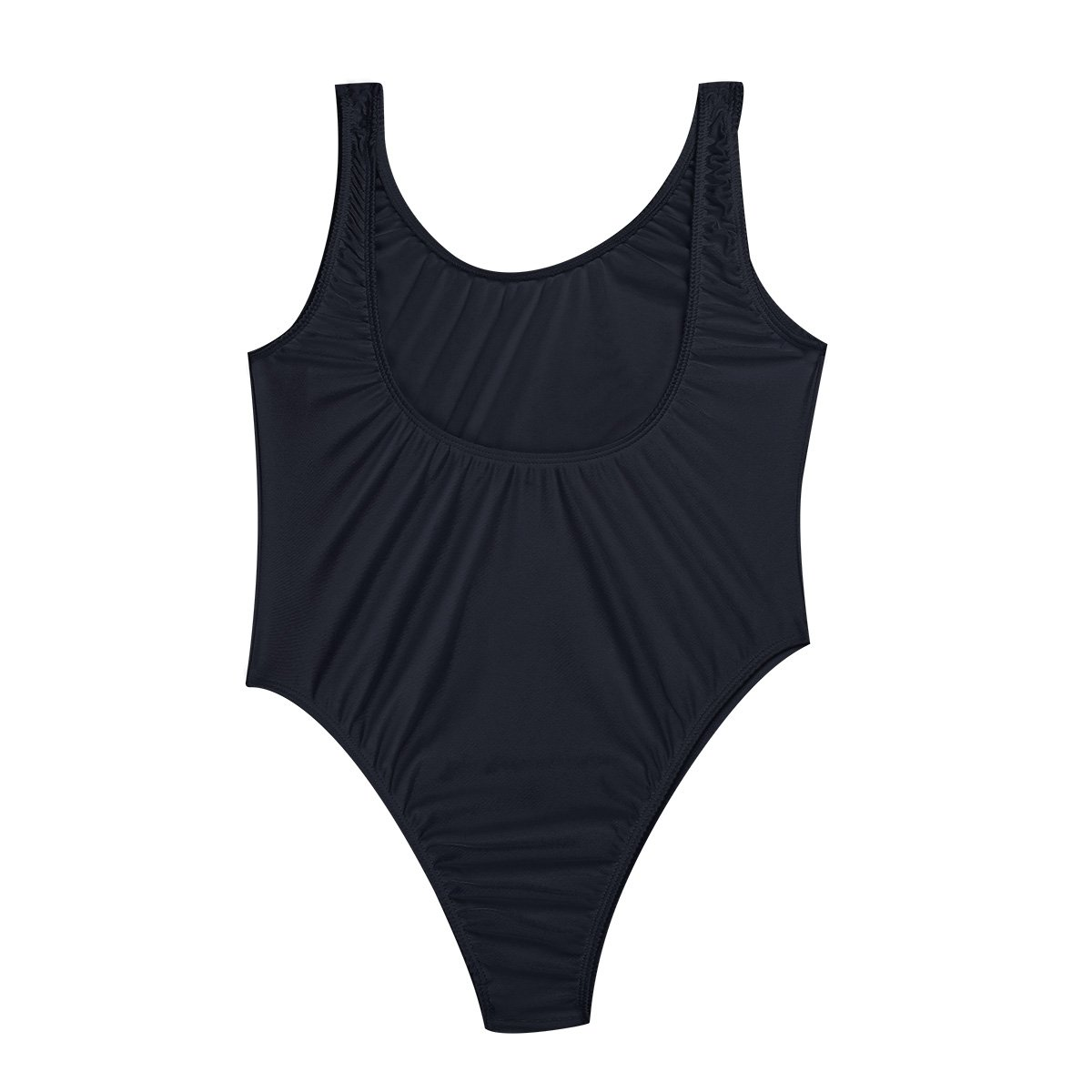 193f4639cf Freebily Women One Piece Bodysuit High Cut Swimsuit Thong Gymnastics  Bodysuit Leotard Bikini Black One Size at Amazon Women s Clothing store