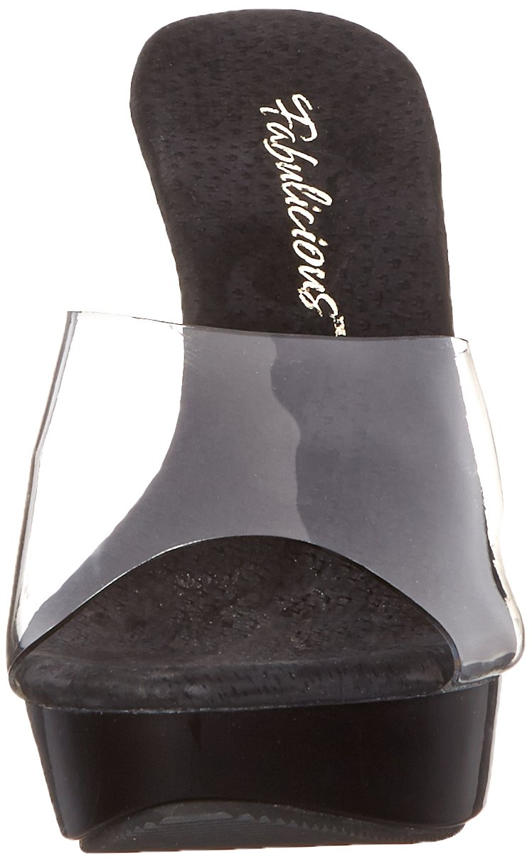 Fabulicious Women's B00DULTCSC Cocktail 501 Platform Sandal B00DULTCSC Women's 5 B(M) US|Clear 93d714