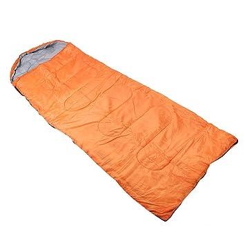 Deportes al aire libre Ultraligero Camping naranja con capucha Saco de dormir con bolsa de compresión