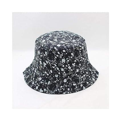 c1752709cc2f1f Amazon.com : JUNHONGZHANG Bucket Hat Fisherman Cap Floral Print Bucket Hat  Fisherman Hats Men Women Outer Summer Street Hip Hop Dancer Cotton City Hat  ...