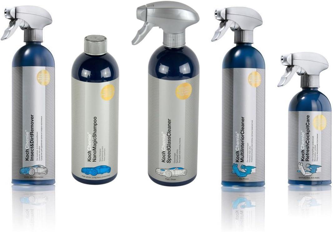 Koch Chemie 5 Teiliges Autopflege Set Komplettpaket Innenpflege Außenpflege Auto