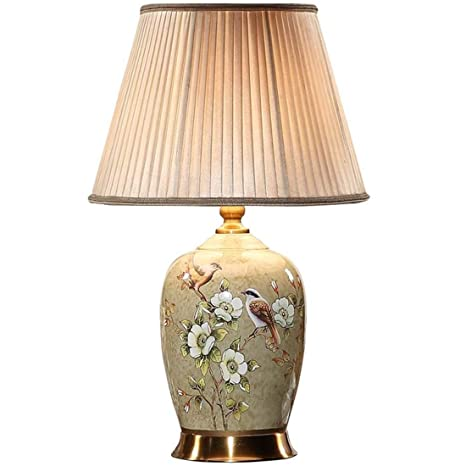 China Lámpara de mesa de cerámica de color dibujo luz del ...
