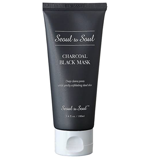 Seoul to Soul Charcoal Black Mask – 10 Minute Acne Eraser Mask (3.4 fl oz / 90 Day) best charcoal mask