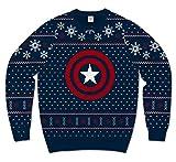 Marvel Captain America Shield Ugly Sweater Christmas Mens Sweatshirt