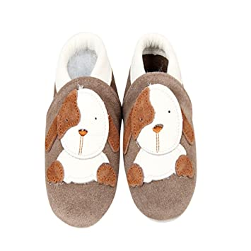 Amazon.com : Baby Moccasins with Puppy Design for Boy Girl Infant Toddler Pre Walker Crib Shoe (0-3 month (4.4 inches)) : Baby