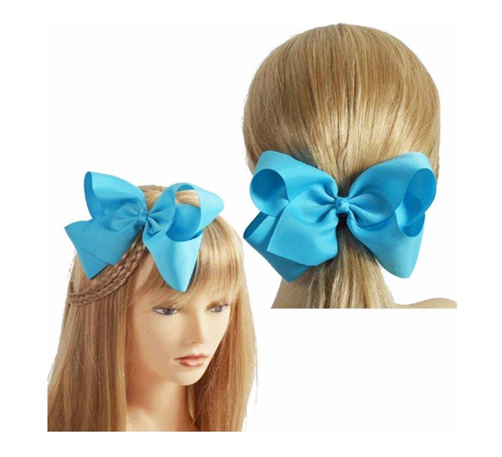 Horquillas para pelo con lazo para niñas (de grograin, 16 unidades, 15 cm), varios colores: Amazon.es: Belleza