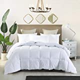 White Down Alternative Comforter Hypoallergenic Fluffy Comforter Duvet Insert with Corner Tabs - Machine Washable - King Comf