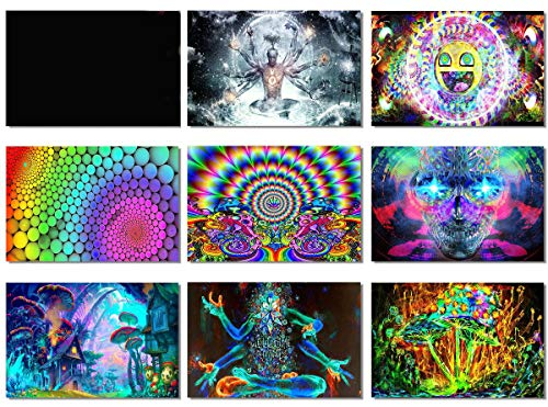 9x Fabric Poster Psychedelic Trippy Colorful Trippy for sale  Delivered anywhere in USA