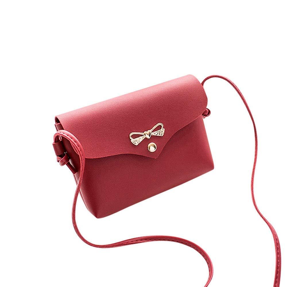 Amazon.com: Women Fashion ladies Handbag Shoulder Bag Tote Ladies Purse Messenger Bag ShoulderBag leather crossbodybags bolsas feminina #75 Color Red: Shoes