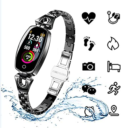 HUWAT RelojesMujeres Smart Watch Fitness Tracker Impermeable ...