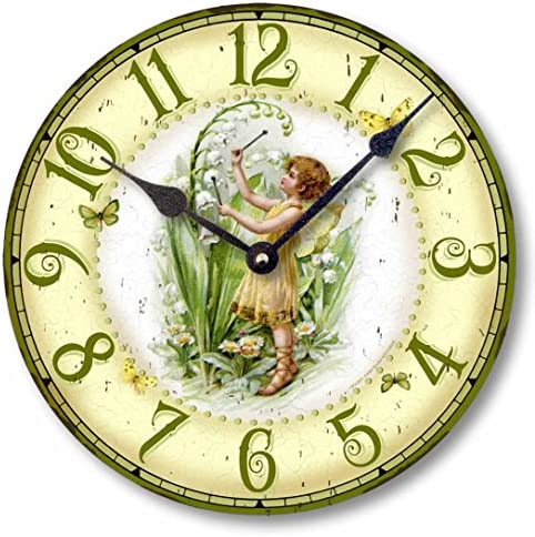 Item C1203 Vintage Style 10.5 Inch Fairy Clock