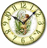 Item C1203 Vintage Style 10.5 Inch Fairy Clock For Sale