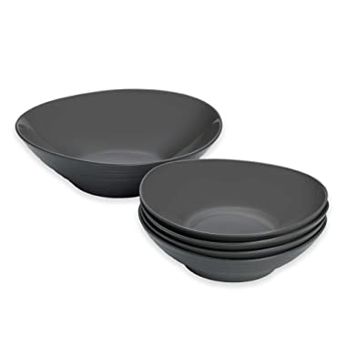 Mikasa Swirl 5-Piece Pasta Set in Graphite