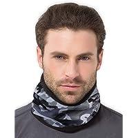 Fleece Neck Warmer [Tactical] - Reversible Neck Gaiter Tube, Ear Warmer Headband, Mask & Beanie. Ultimate Thermal…