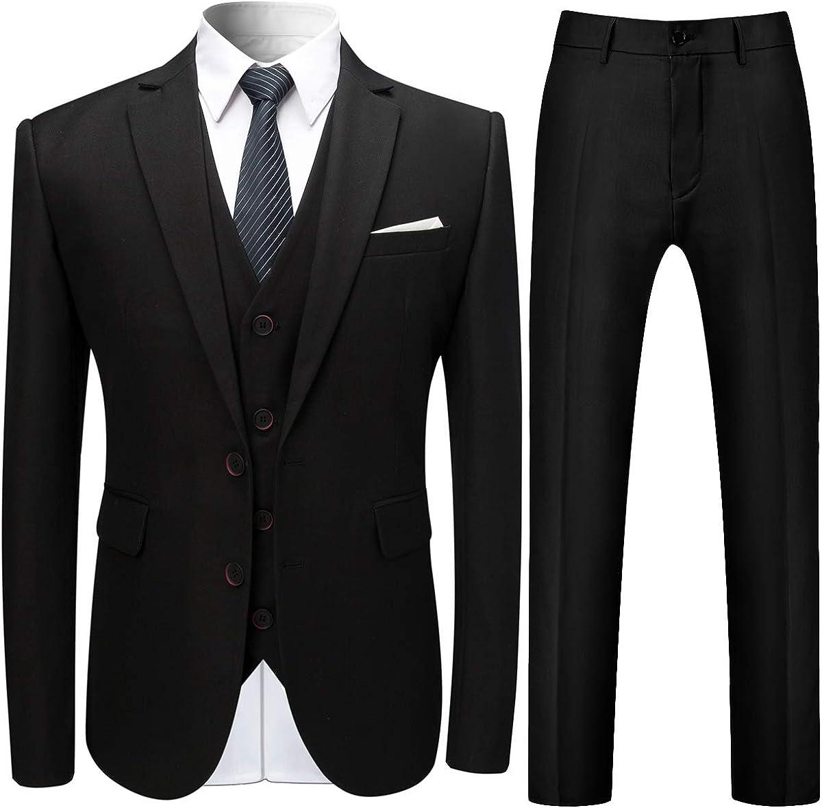 mens stylish 3 piece dress suit slim fit wedding formal jacket vest pants at amazon men s clothing store mens stylish 3 piece dress suit slim fit wedding formal jacket vest pants