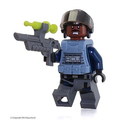 Lego Jurassic World ACU Minifigure 75919 Dark Reddish Brown Head Exclusive: Toys & Games