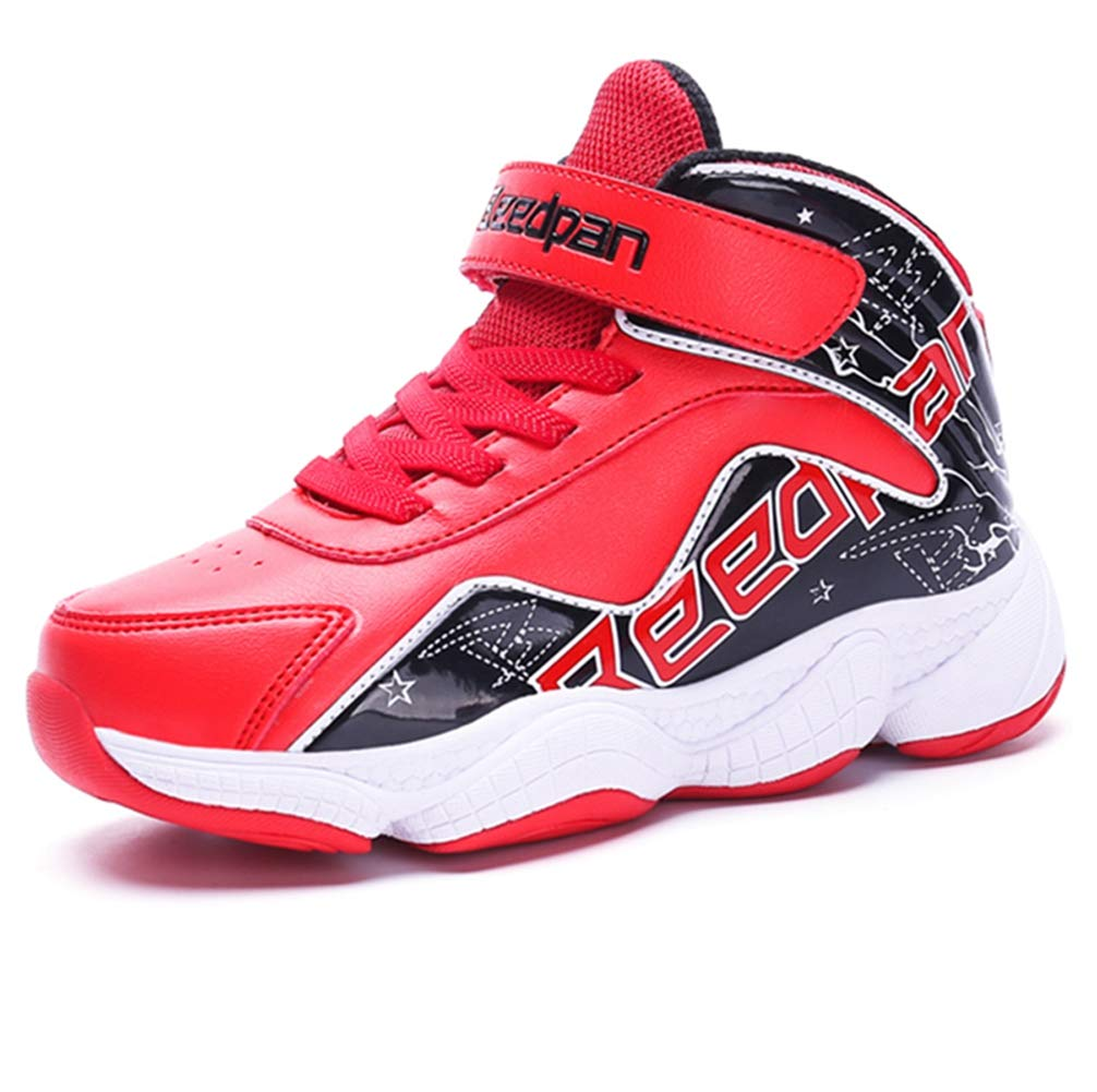 LGXH Youth Boys Girls Basketball Shoes Anti-Slip Breathable Kids Outdoor Sport Walking Athletic Sneakers