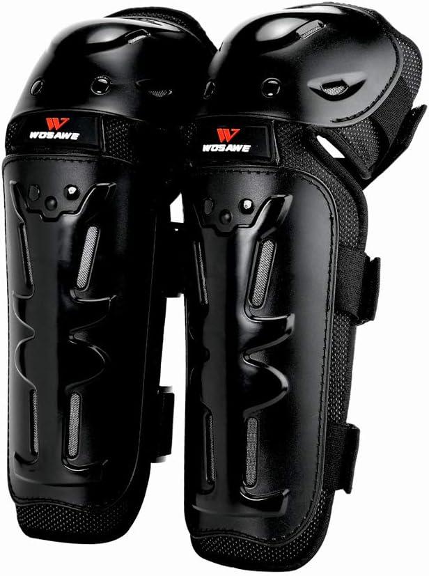 Wosawe Ellenbogen Knieprotektoren Erwachsene Lange Schienbeinschutz Schutzausrüstung Für Motocross Motorrad Radfahrrad Skateboard Ml311 Ellenbogenschoner Auto