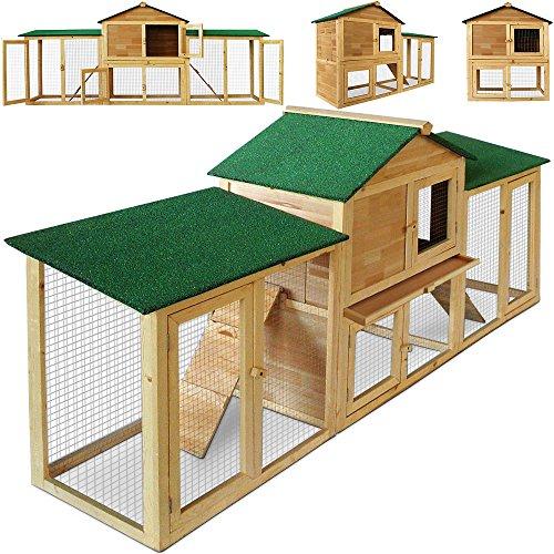 Kaninchenstall Hasenstall Hase Kaninchen Stall Käfig Kleintierstall Freilauf Garten XXL
