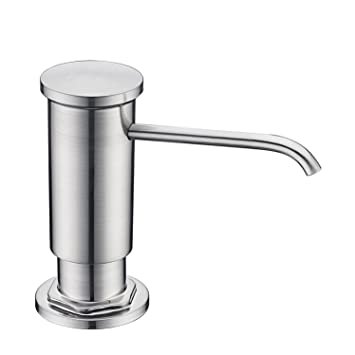 Gicasa Commercial Built In Soap Dispenser Countertop Brushed Nickel