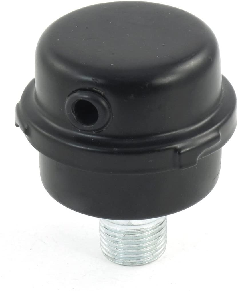 R TOOGOO compresseur Diametre de filetage exterieur de 20 mm Filtres a compresseur dair Silencieux noir Filtres a compresseur dair Silencieux