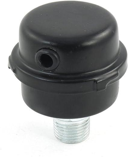 Acamptar Kompressor 20mm Durchmesser Aussengewinde Intake Schalldaempfer Luftfilter Schwarz Baumarkt