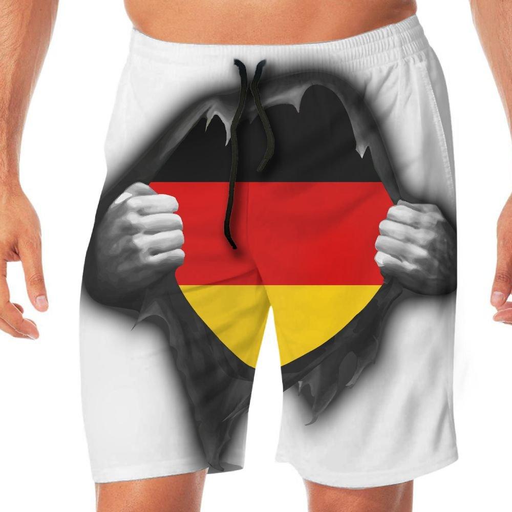 STDKNSK9 Mens German Flag Proud Board Shorts Swimming Shorts No Mesh Lining