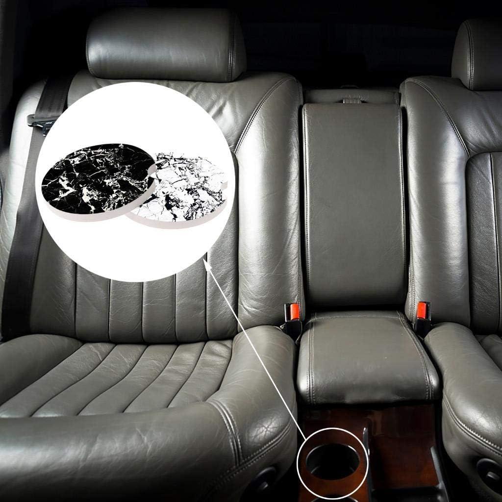 6,5 cm Peerless 8 St/ück Auto-Untersetzer Marmor Muster Design saugf/ähige Keramik Tasse Getr/änkehalter Untersetzer A Fingerkerbe f/ür einfaches Entfernen Auto Untersetzer Geschenk
