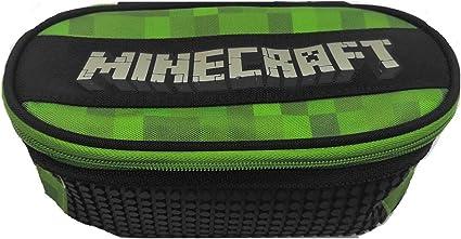 Estuche escolar compatible con Minecraft Pixel organizado ovalado vacío 22 x 9 x 7 cm: Amazon.es: Equipaje