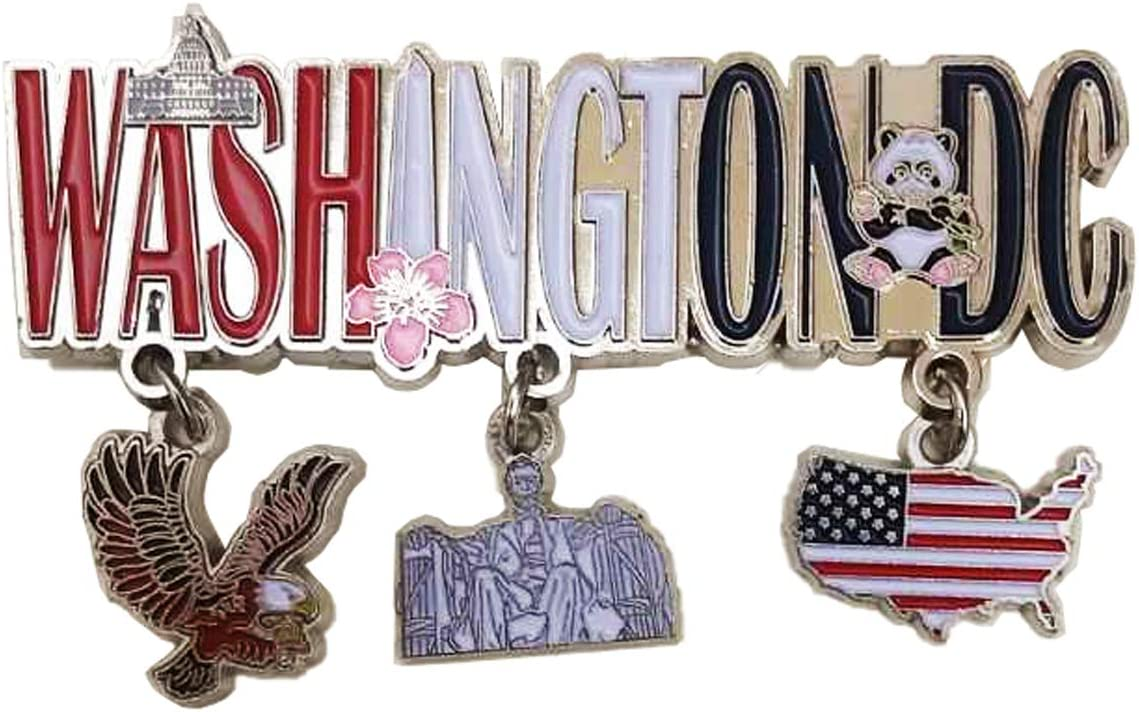 Washington D.C. Capital City of the USA 3 Charm Souvenir Refrigerator Magnet