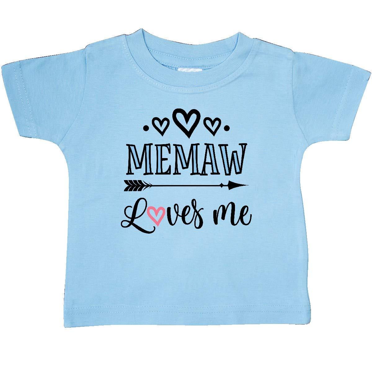 inktastic Memaw Grandma Loves Me Gifts Baby T-Shirt