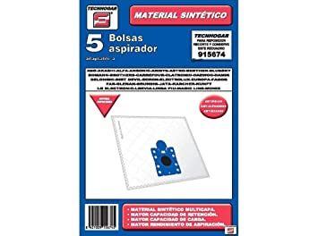 Tecnhogar 915674 Bolsa Aspirador, Blanco