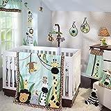 Lambs & Ivy Peek A Boo Jungle 7-Piece Crib Bedding Set