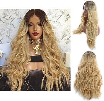 Perruque Femmes Cheveux Longs Bouclés, Brune