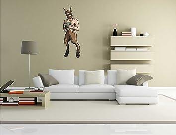 Sticker Mural Ares Dieu Grec Gods 015 Tatouage Mural 58 X 19 Cm