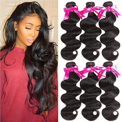Texture Bundle - Beauty Princess 8A Brazilian Virgin Hair Body Wave 3 Bundles Unprocessed Human Hair Weave Bundles Soft Remy Hair (8 10 12)