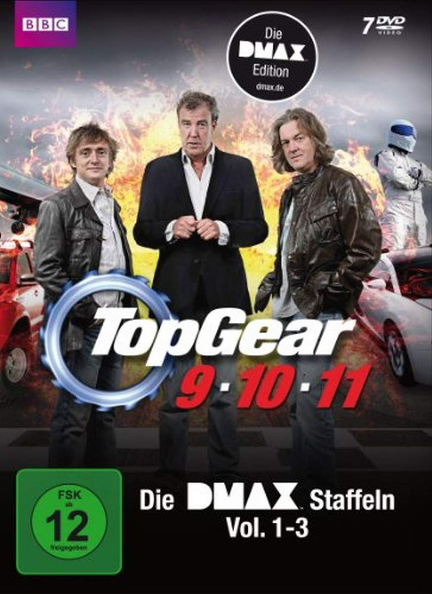 Top Gear - Staffel 9-11 - Die DMAX Staffeln Vol. 1-3 7 DVDs Alemania: Amazon.es: Jeremy Clarkson, Richard Hammond, James May, diverse, Jeremy Clarkson, Richard Hammond: Cine y Series TV