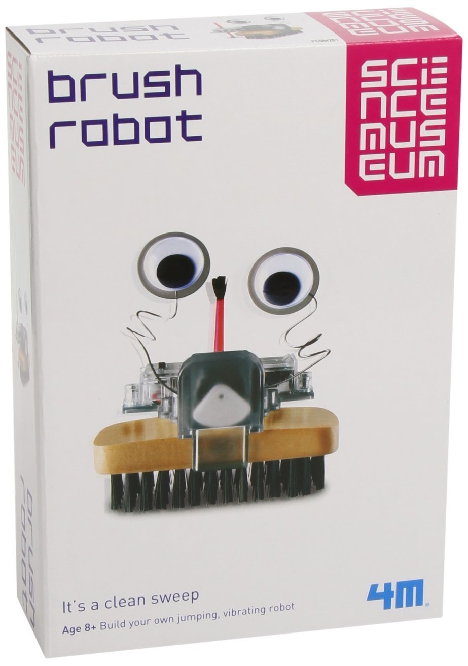 Reward or Pocket Money Boys Girls Children Kids Science Museum Build Your Own Brush Robot Build Your Own Kit Best New Educational Toy Educational Toys /& Games Present Gift Idea For Treat