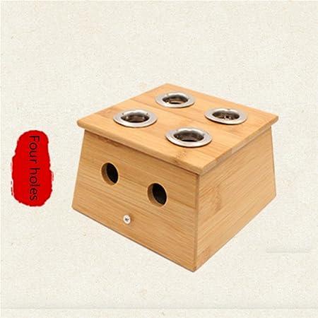 HUZHUANGZHUANG HZZymj-2x moxibustión Cuadro Engrosamiento Moxa Moxa Caja Ai, Four Holes: Amazon.es: Hogar