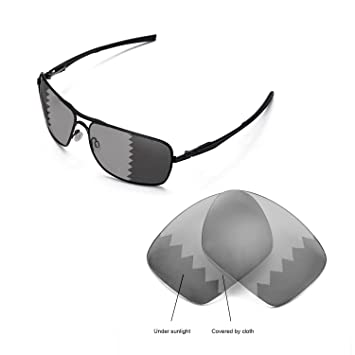 5db6dcb0f2 Walleva Replacement Lenses for Oakley Plaintiff Squared Sunglasses -  Multiple Options (Transition - Polarized)  Amazon.ca  Sports   Outdoors