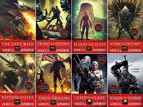 Witcher Books Complete Set (8 Books): Andrzej Sapkowski, David French:  Amazon.com: Books