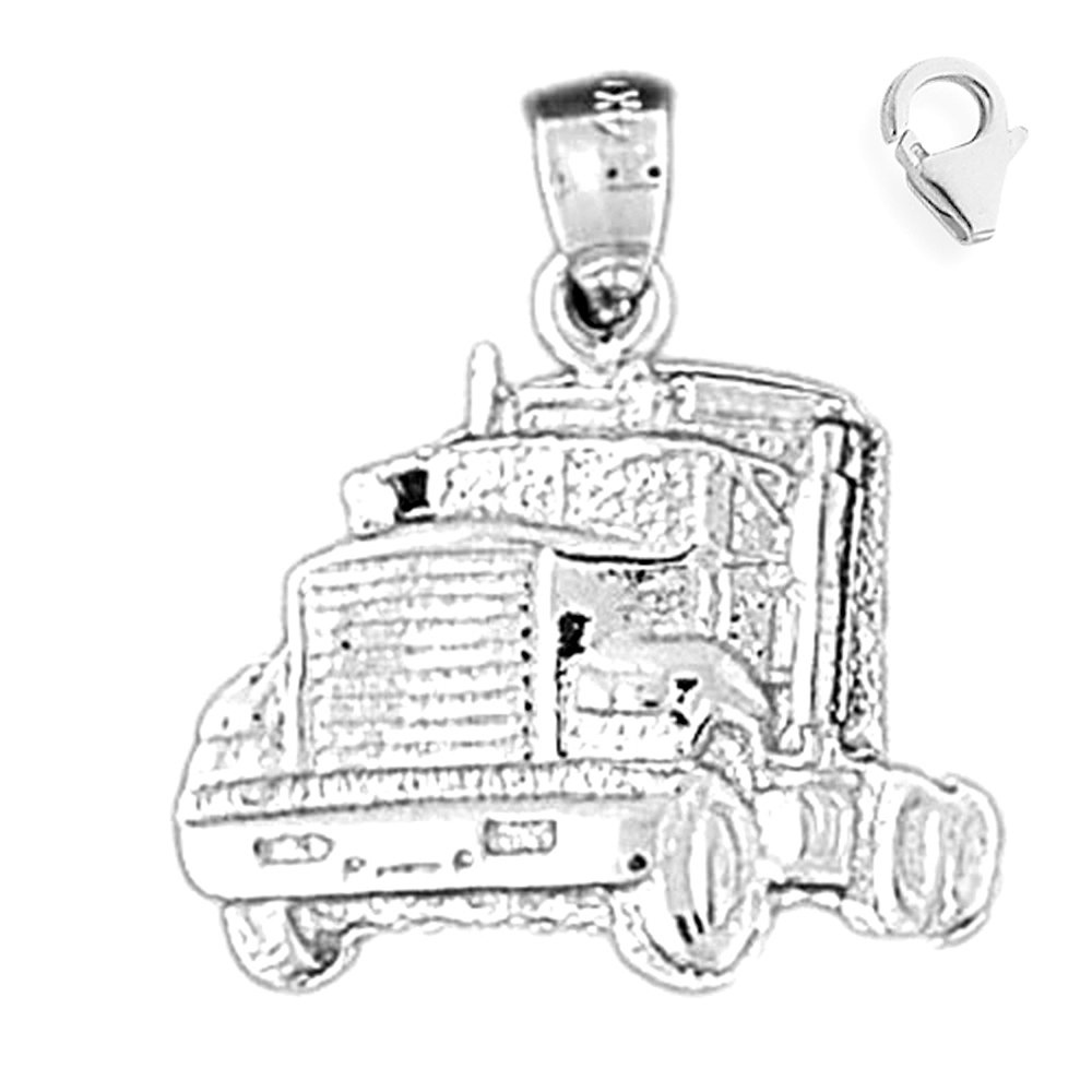 JewelsObsession Sterling Silver 21mm Truck Charm w//Lobster Clasp