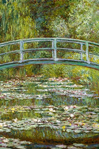Claude Monet The Water Lily Pond Japanese Bridge Mural Giant Poster 36x54 ()
