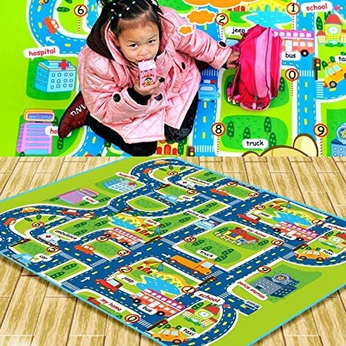Finetoknow Baby Creeping Mats Eco-Friendly Dampproof City Pathway Pattern Play Mat for Toddlers