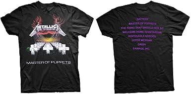 Metallica Master of Puppets Hombre Camiseta Negro, Regular: Amazon.es: Ropa y accesorios
