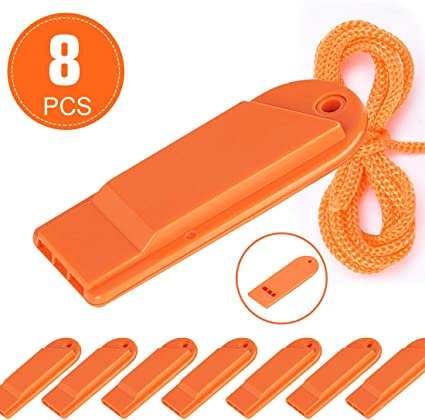 Select Color /& Type Emergency Sports Whistles with Lanyards