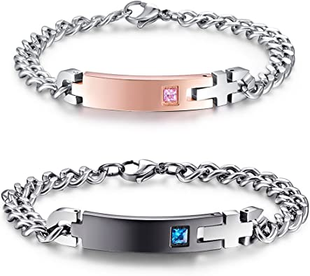 Matching Bracelet You Are My Person Gift for Her, Couples Bracelet Anniversary Bracelet You/'re My Person Bracelet Set Stainless Steel